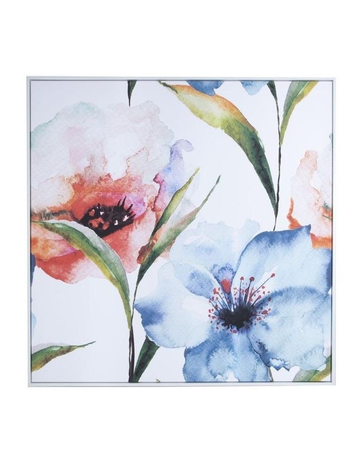 Framed Wall Art Flower Water 100X100 cm image 1