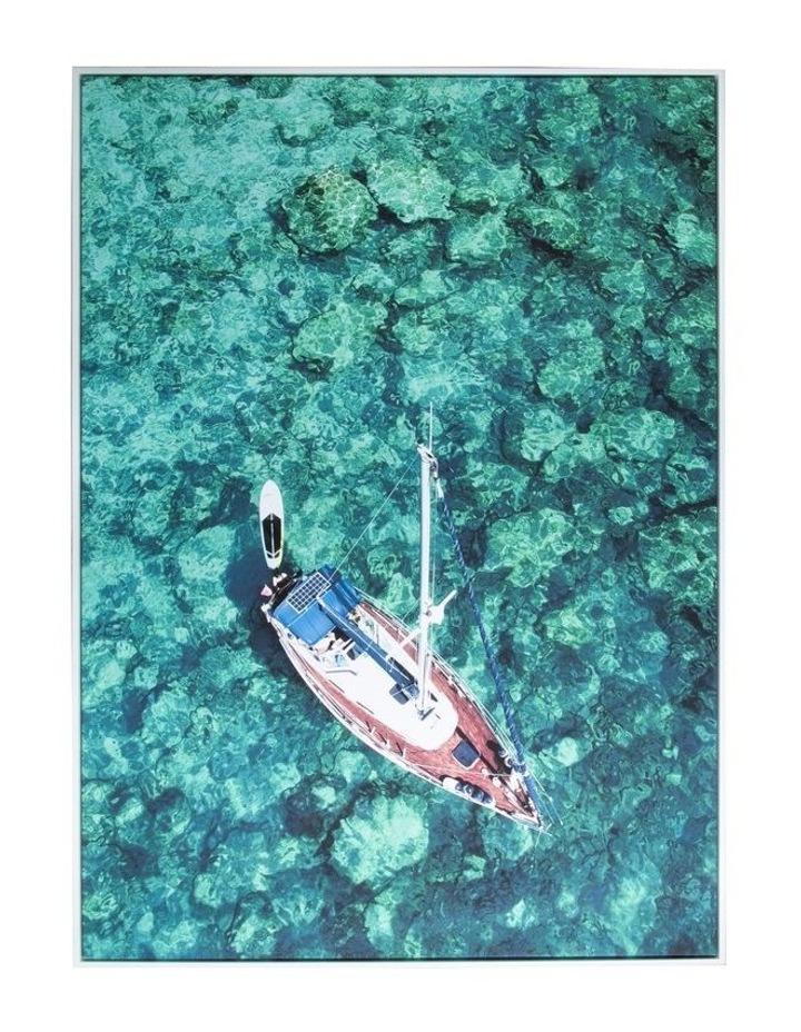 Framed Wall Art Boat 140x100 cm image 1
