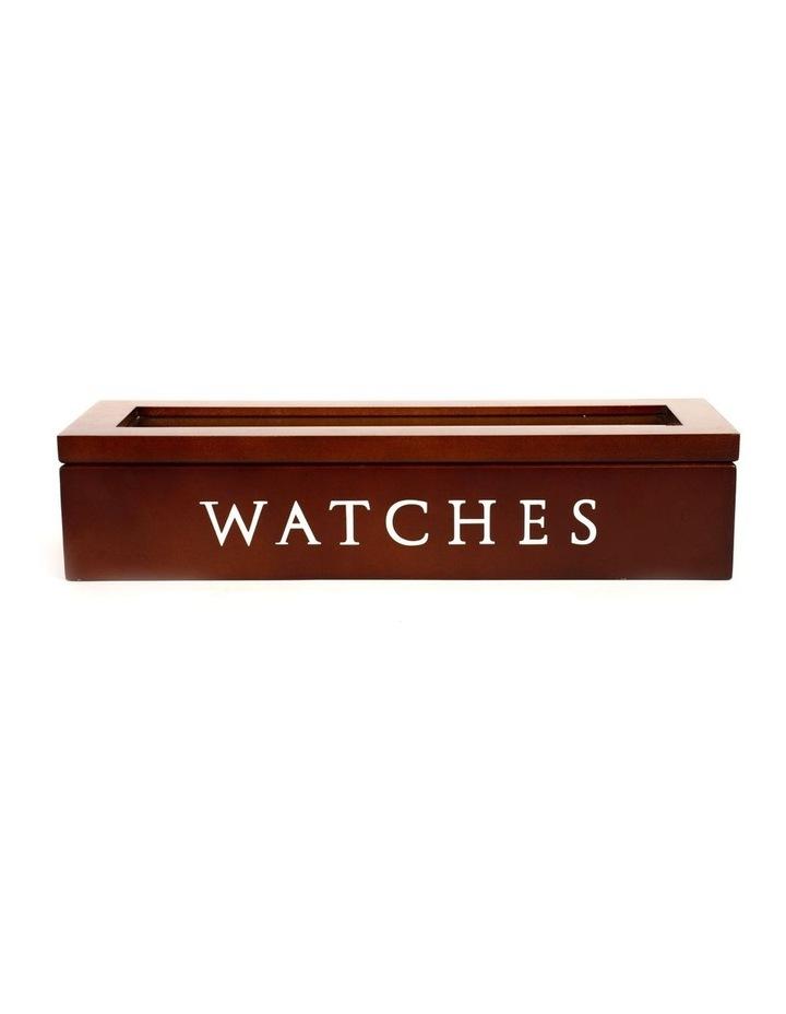 5 Grids Vintage Wooden Watch Box Storage Gift Case Jewelry Display Organizer image 1