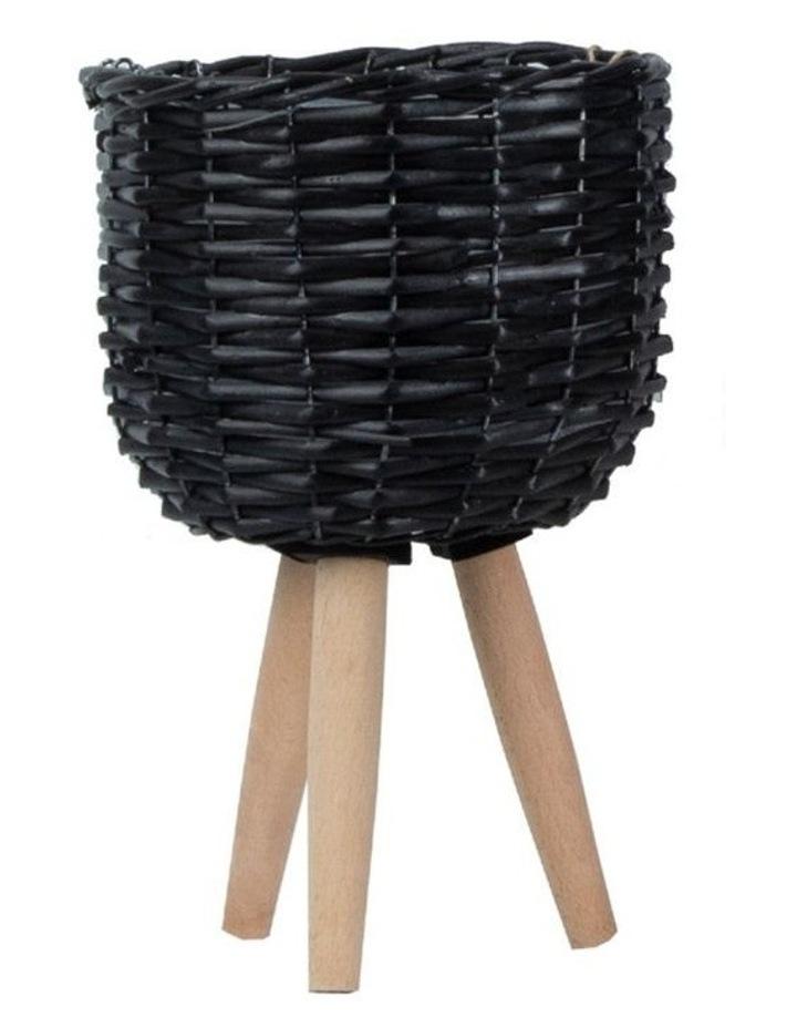 Natural Wicker Willow Flower Basket Pot Planter image 1