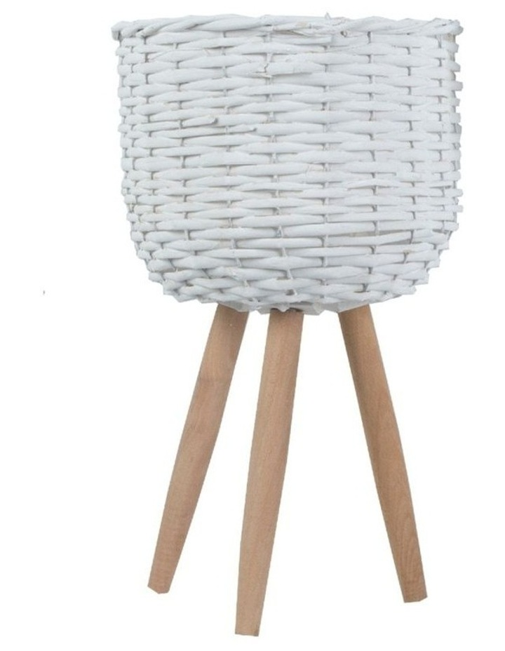Natural Wicker Willow Flower Basket image 1