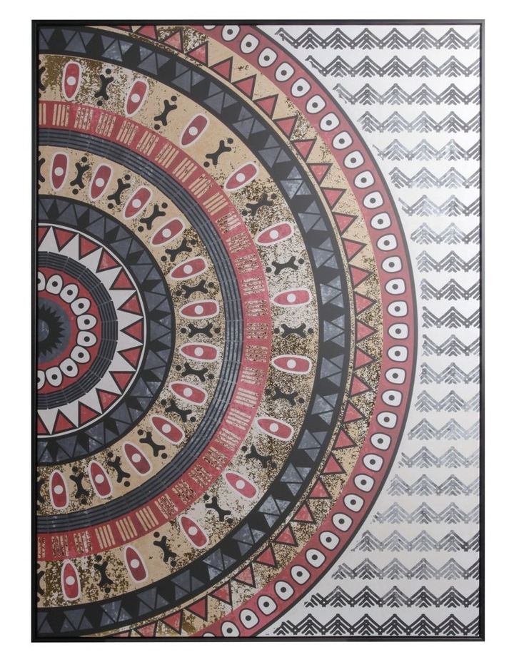 143 x 102cm Natural Mosaic Print Canvas Framed Wall Art image 1