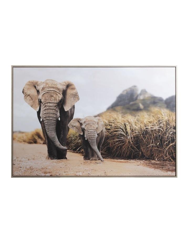 82 x 122cm Elephant Print  Canvas Framed Wall Art image 1