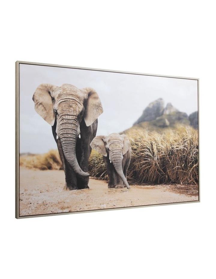 82 x 122cm Elephant Print  Canvas Framed Wall Art image 2