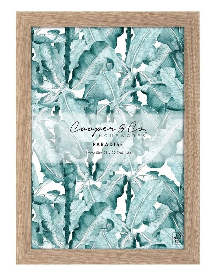 Set Of 2 21x29.7cm Oak Premium Paradise Wooden Photo Frame image 2