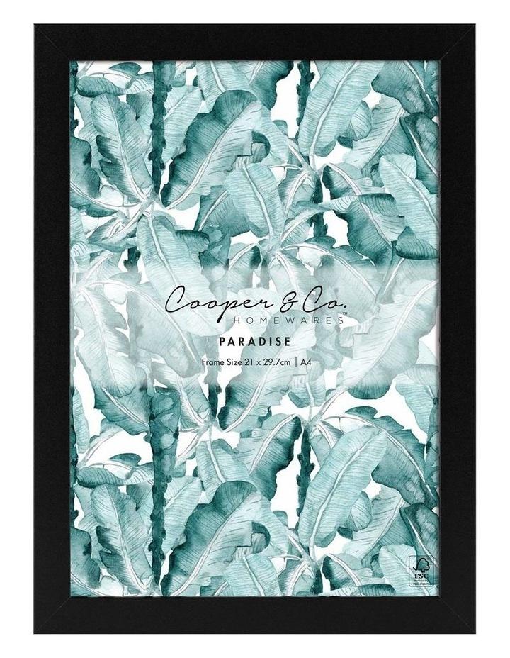Cooper & Co Set Of 2 21x29.7cm Black Premium Paradise Wooden Photo Frame image 2