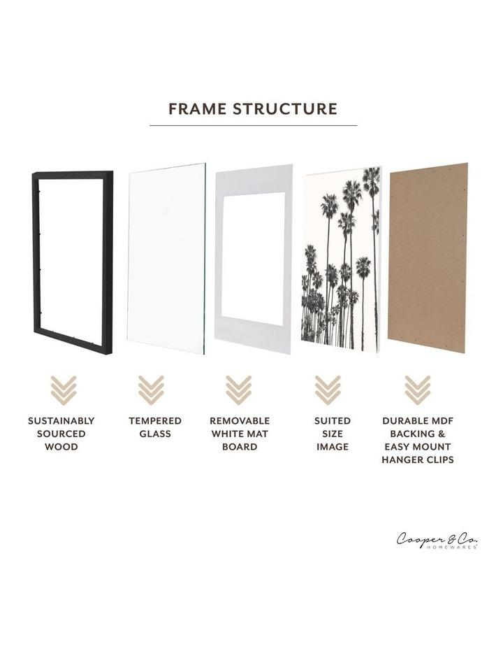 60x90cm Mat to 50x70cm Black Premium Paradise Wooden Photo Frame image 5
