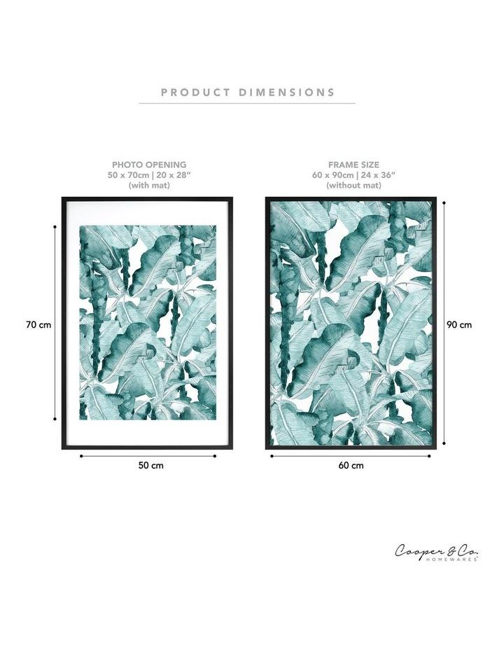 60x90cm Mat to 50x70cm Black Premium Paradise Wooden Photo Frame image 6