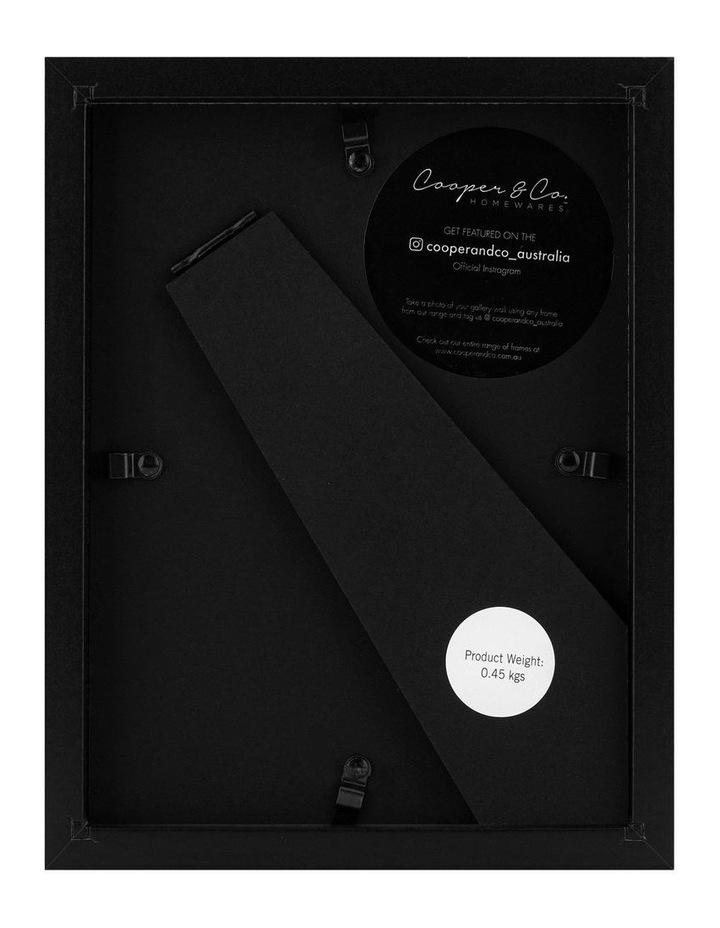 Set Of 4 15x20cm Mat to 10x15cm Black Premium Paradise Wooden Photo Frame image 3