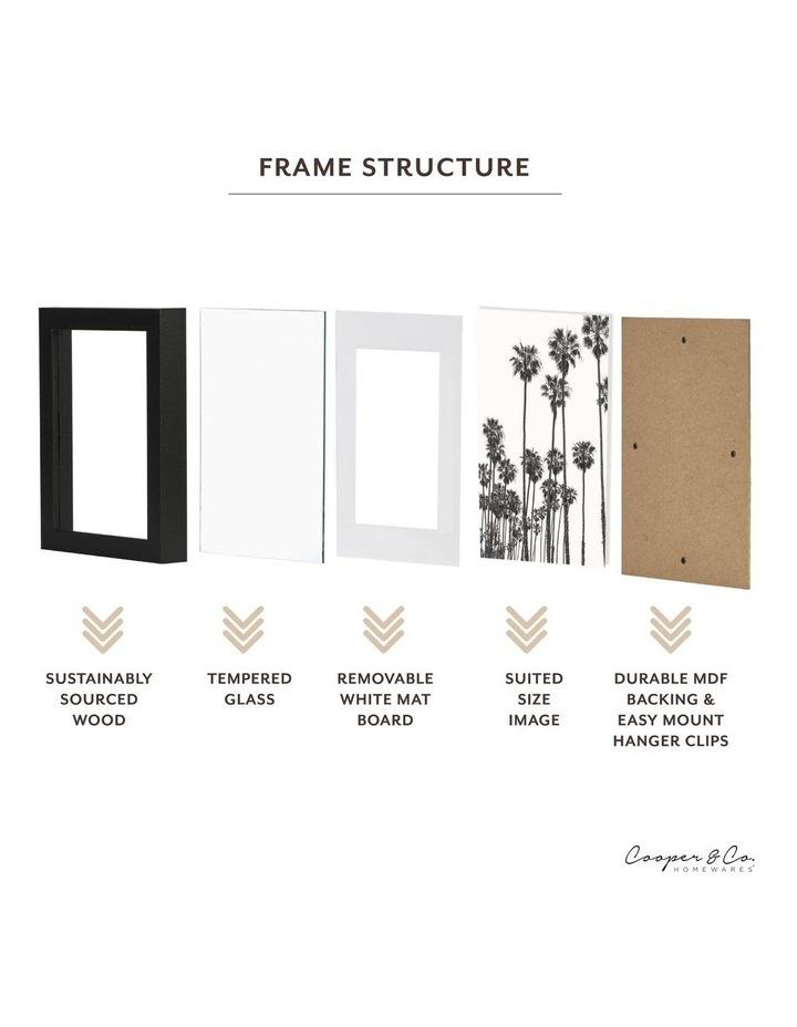 Set Of 4 15x20cm Mat to 10x15cm Black Premium Paradise Wooden Photo Frame image 6