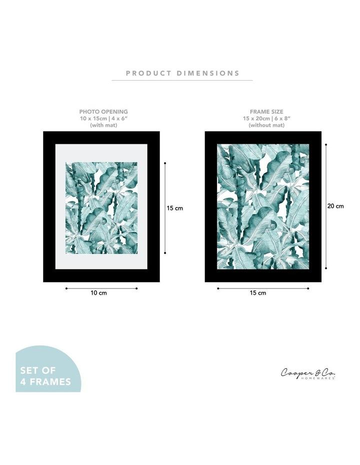 Set Of 4 15x20cm Mat to 10x15cm Black Premium Paradise Wooden Photo Frame image 7