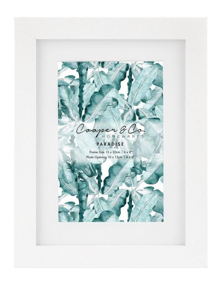 Cooper & Co Set Of 4 15x20cm Matt to 10x15cm White Premium Paradise Wooden Photo Frame image 2