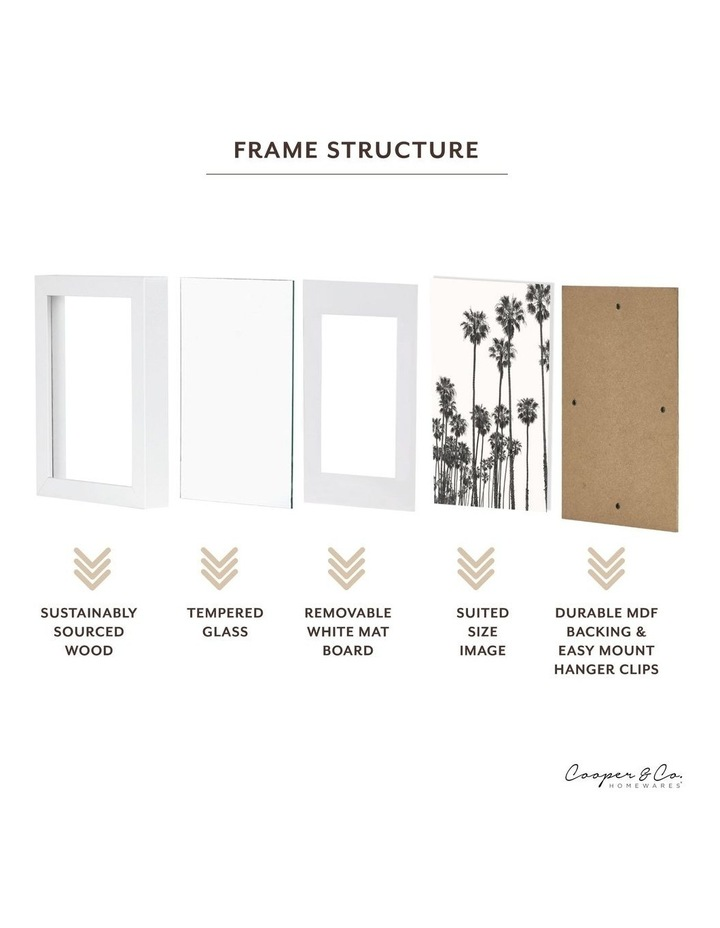 Set Of 4 15x20cm Mat to 10x15cm White Premium Paradise Wooden Photo Frame image 6