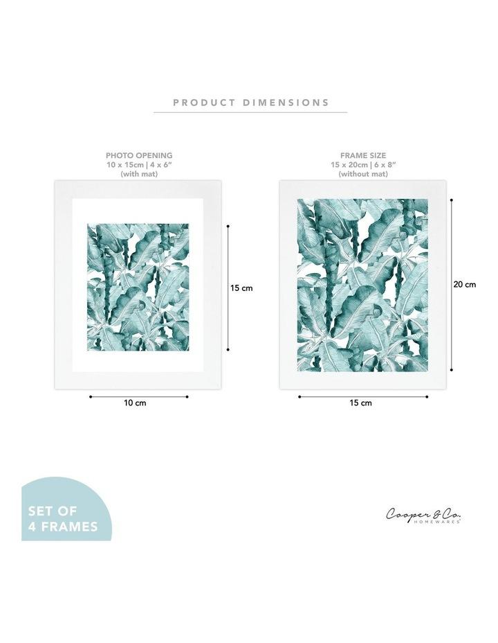Set Of 4 15x20cm Mat to 10x15cm White Premium Paradise Wooden Photo Frame image 7
