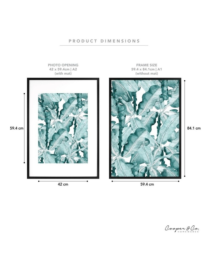 59.4x84.1cm Mat to 42x59.4cm Black Premium Paradise Wooden Photo Frame image 6