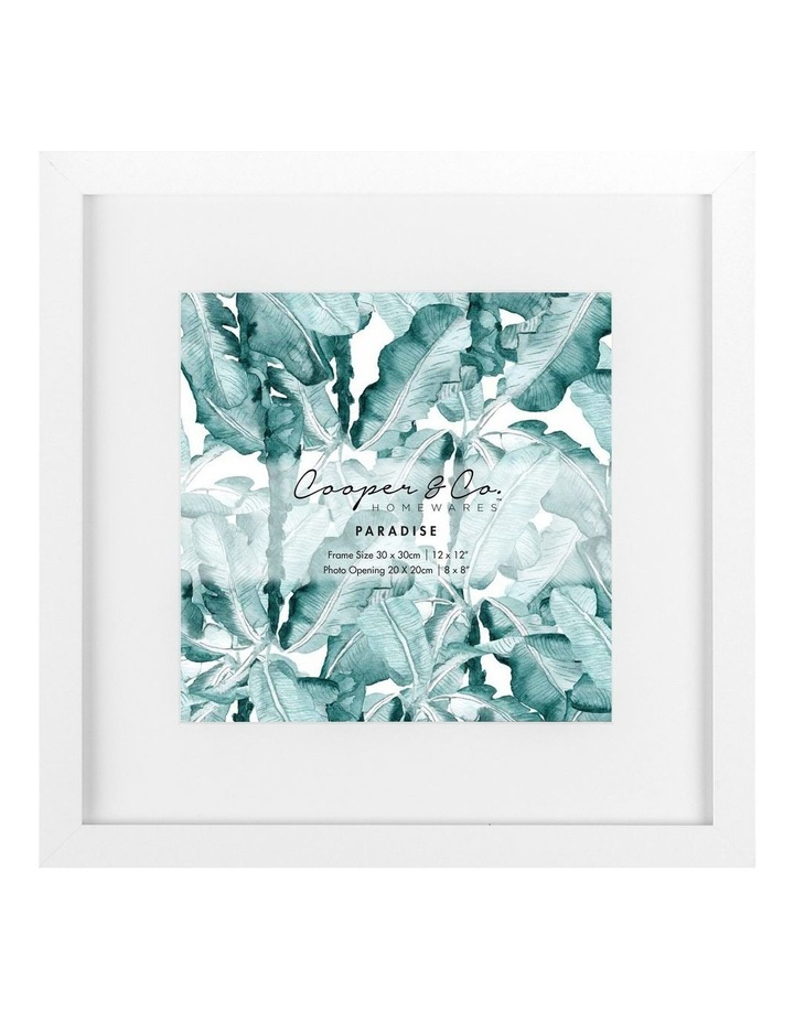 Cooper & Co Set Of 2 30x30cm Matt to 20x20cm White Premium Paradise Wooden Photo Frame image 2