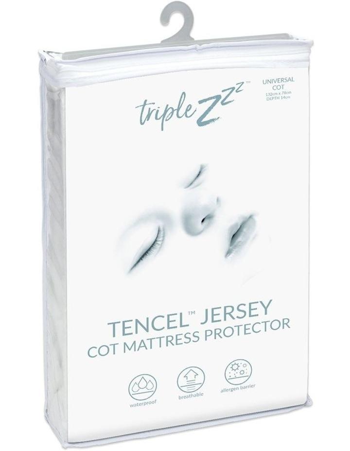 Triple Z Tencel Jersey Waterproof Cot Fitted Mattress Protector 132 x 78cm image 1