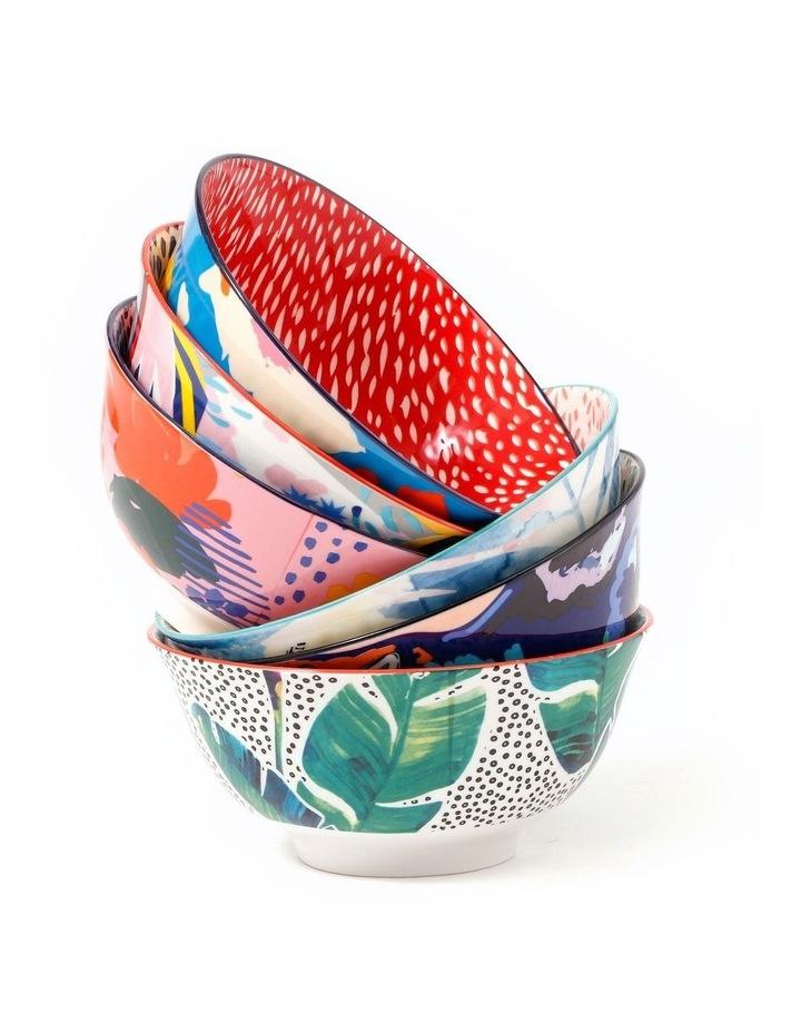 Set of 6 Ceramic Garden Lifestyle 15cm Bowls Large image 1