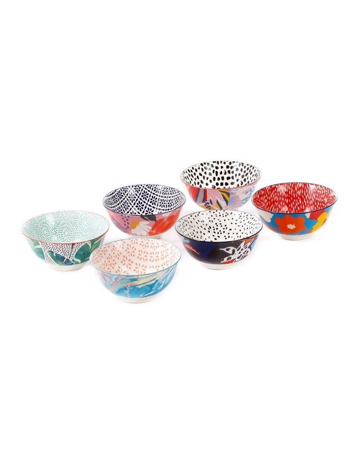 Set of 6 Ceramic Garden Lifestyle 15cm Bowls Large image 2