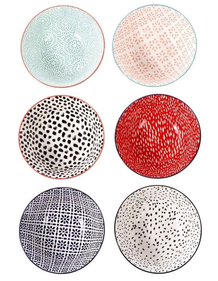 Set of 6 Ceramic Garden Lifestyle 15cm Bowls Large image 3