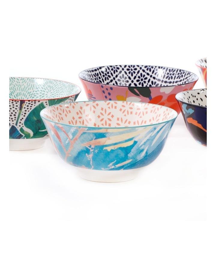 Set of 6 Ceramic Garden Lifestyle 15cm Bowls Large image 4