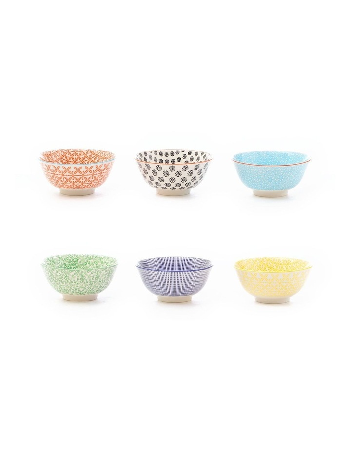 Set of 6 Ceramic Viola 15cm Bowls Large image 2