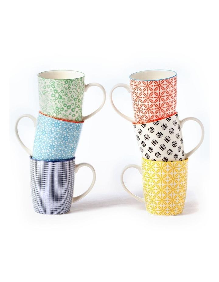 Set of 6 Ceramic Viola Mugs image 1