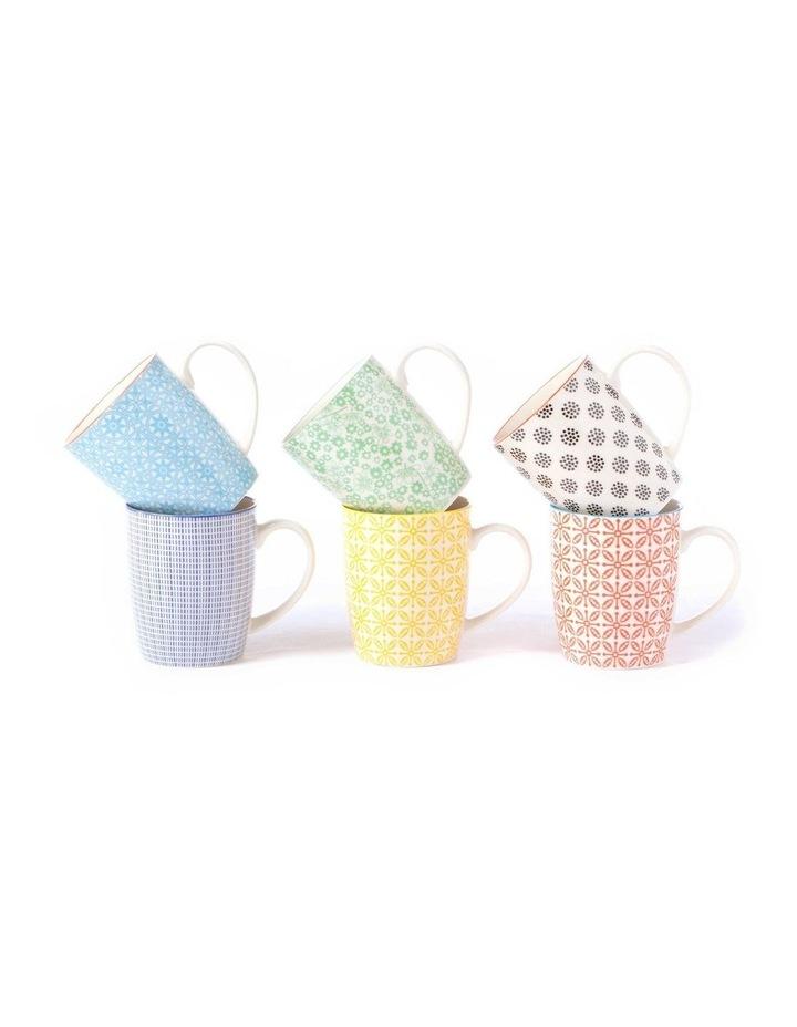 Set of 6 Ceramic Viola Mugs image 3