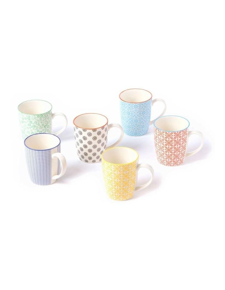 Set of 6 Ceramic Viola Mugs image 4