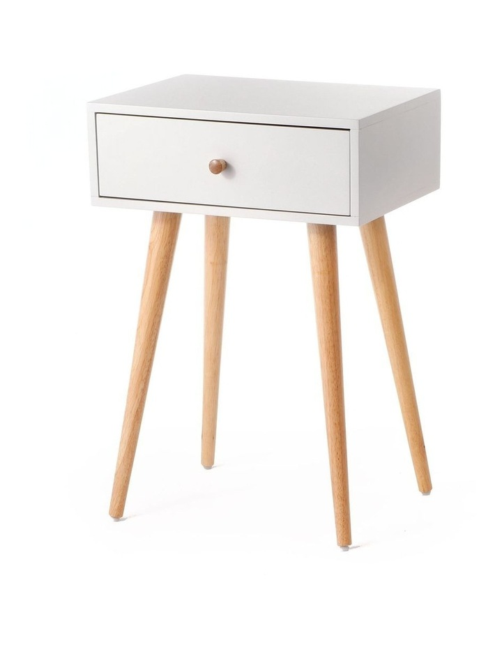 Living Campbell Bedside Table Natural & Grey image 1