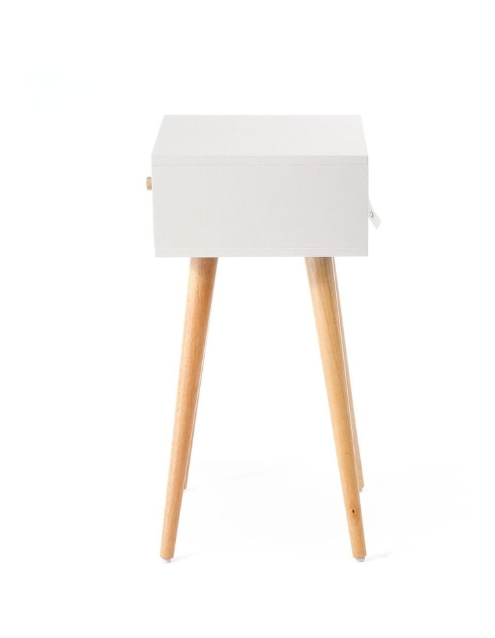 Living Campbell Bedside Table Natural & Grey image 3