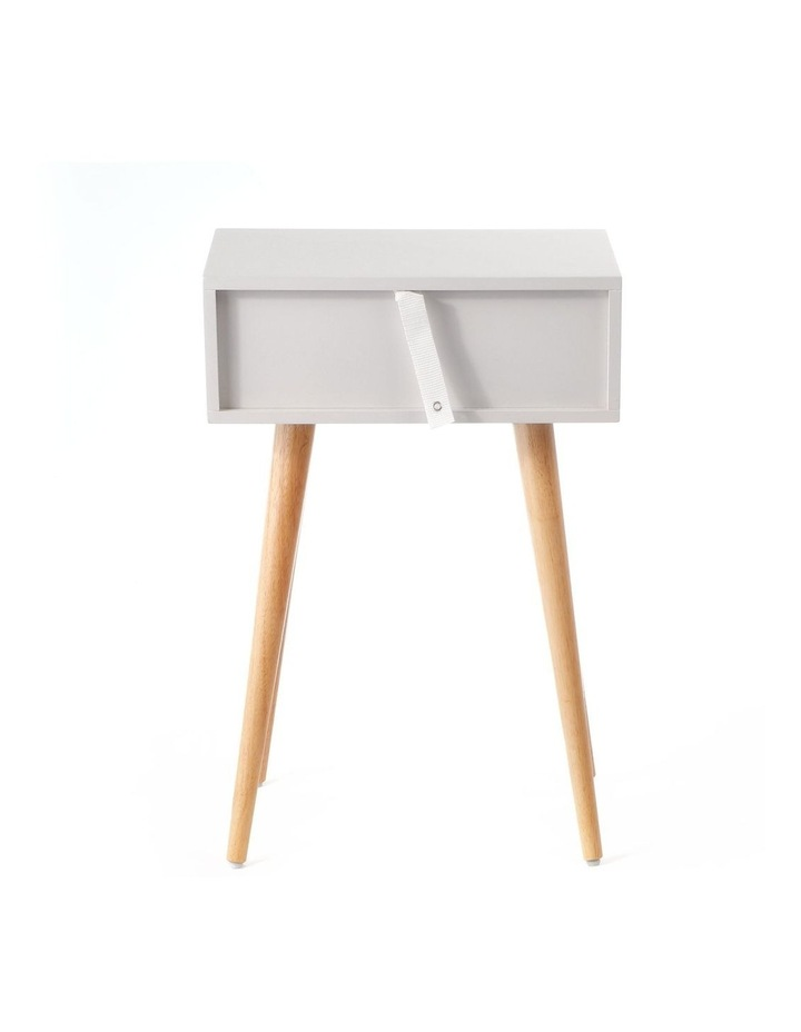 Living Campbell Bedside Table Natural & Grey image 4