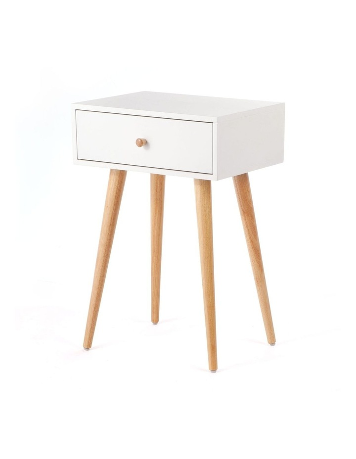 Living Campbell Bedside Table White & Walnut image 1