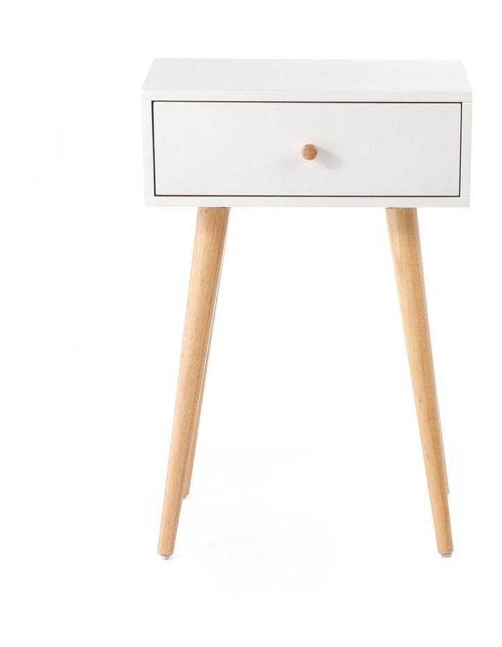 Living Campbell Bedside Table White & Walnut image 2