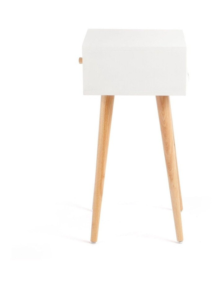 Living Campbell Bedside Table White & Walnut image 3