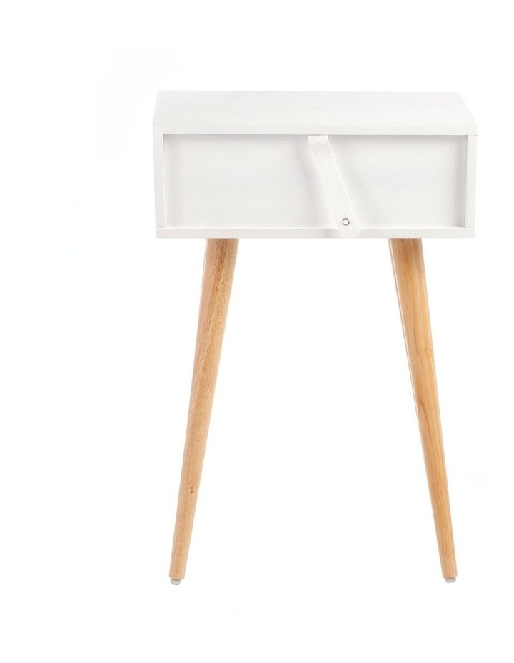 Living Campbell Bedside Table White & Walnut image 4