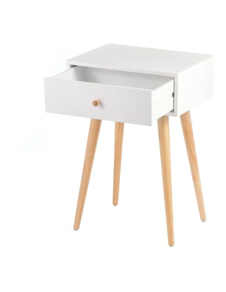 Living Campbell Bedside Table White & Walnut image 5