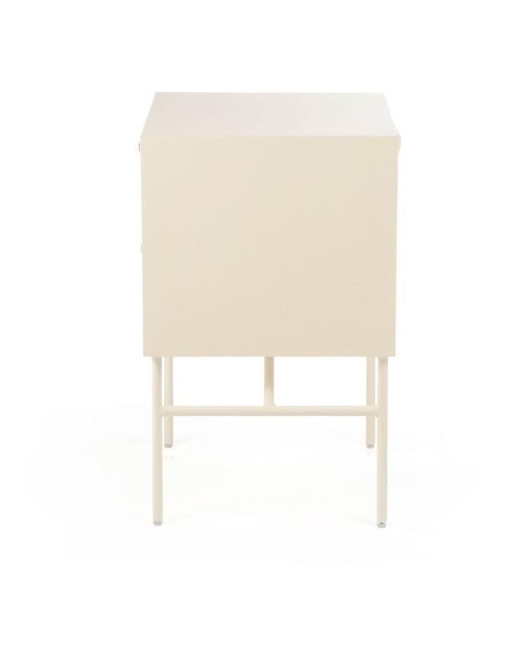 Living Modena Bedside Table 2 Drawer Ivory image 3