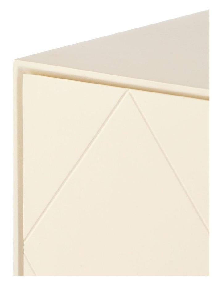 Living Modena Bedside Table 2 Drawer Ivory image 6
