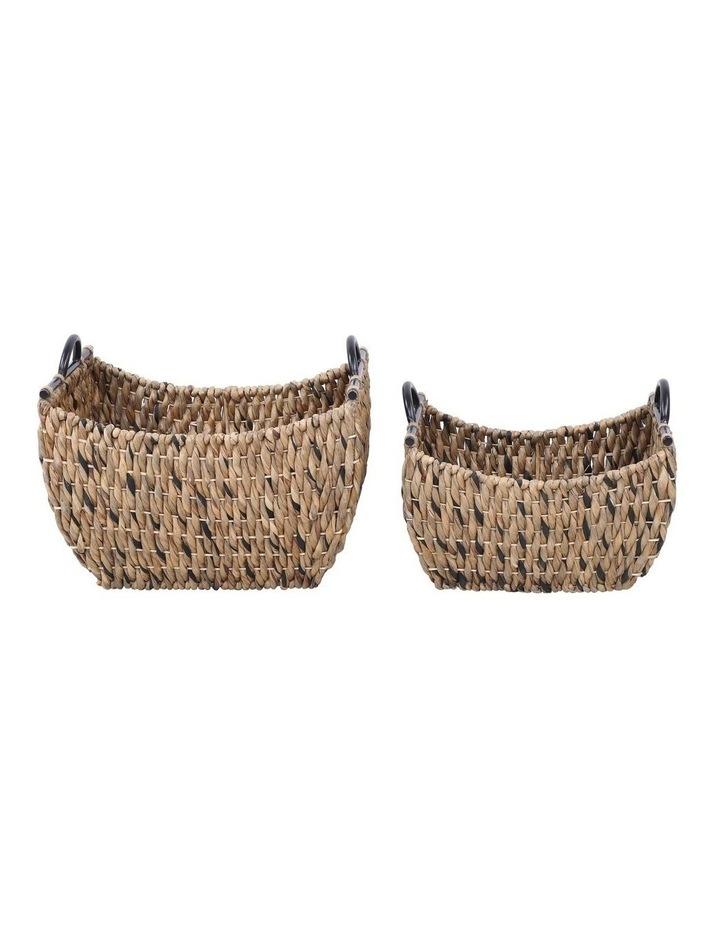 Set of 2 Living Water Hyacinth Rectangular Baskets image 1