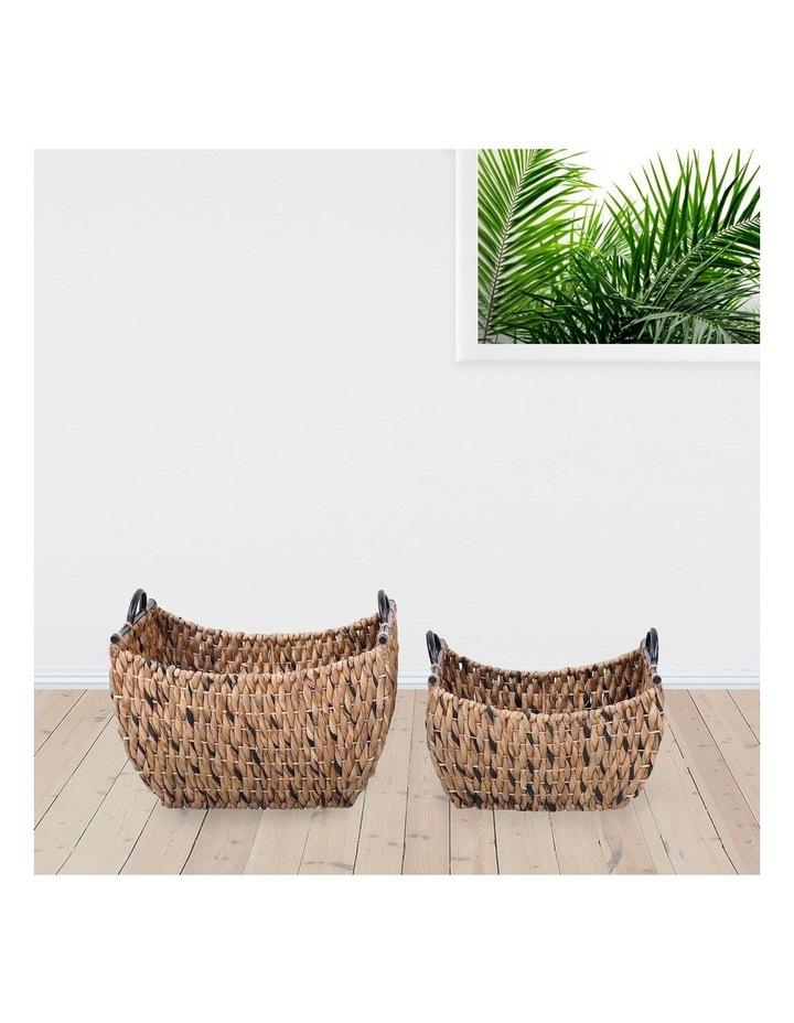 Set of 2 Living Water Hyacinth Rectangular Baskets image 2