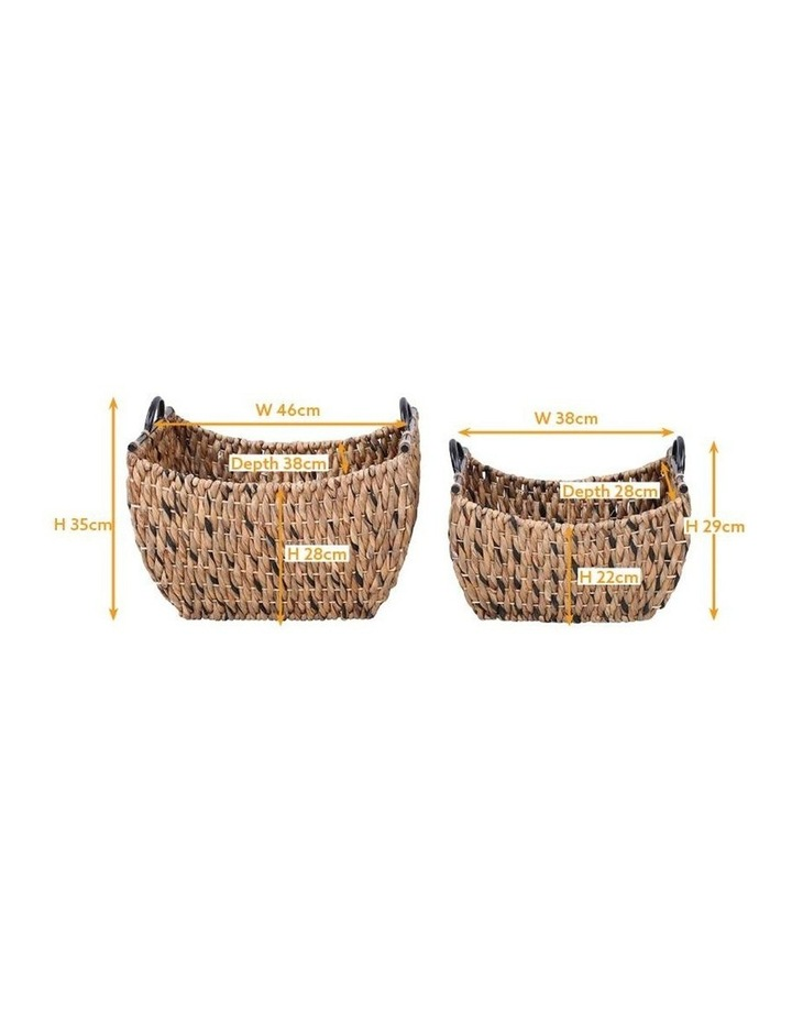 Set of 2 Living Water Hyacinth Rectangular Baskets image 3