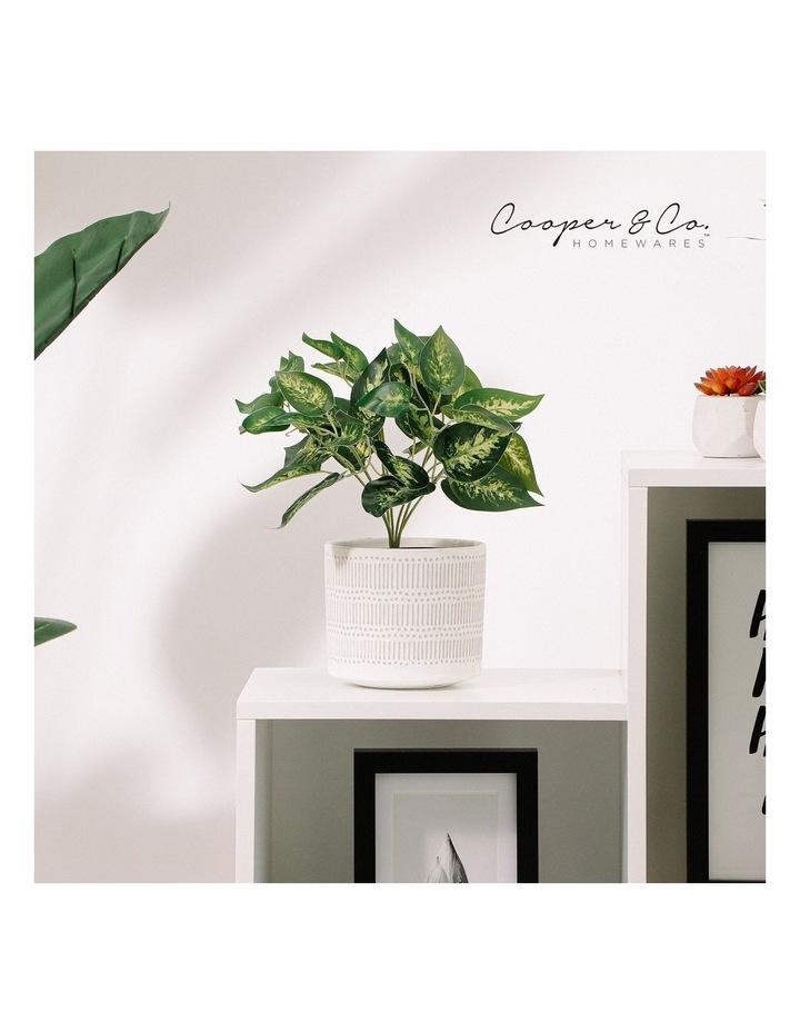Artificial 28cm Dieffe Leaf Potted Plant image 2