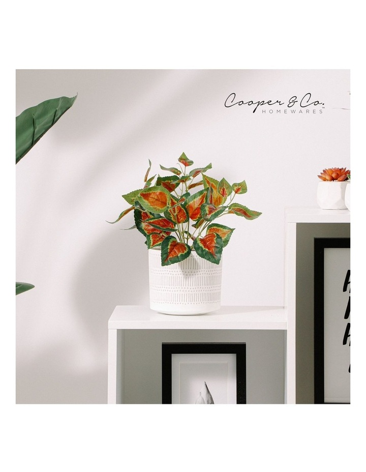 Artificial 28cm Red Leaf Potted Plant image 2