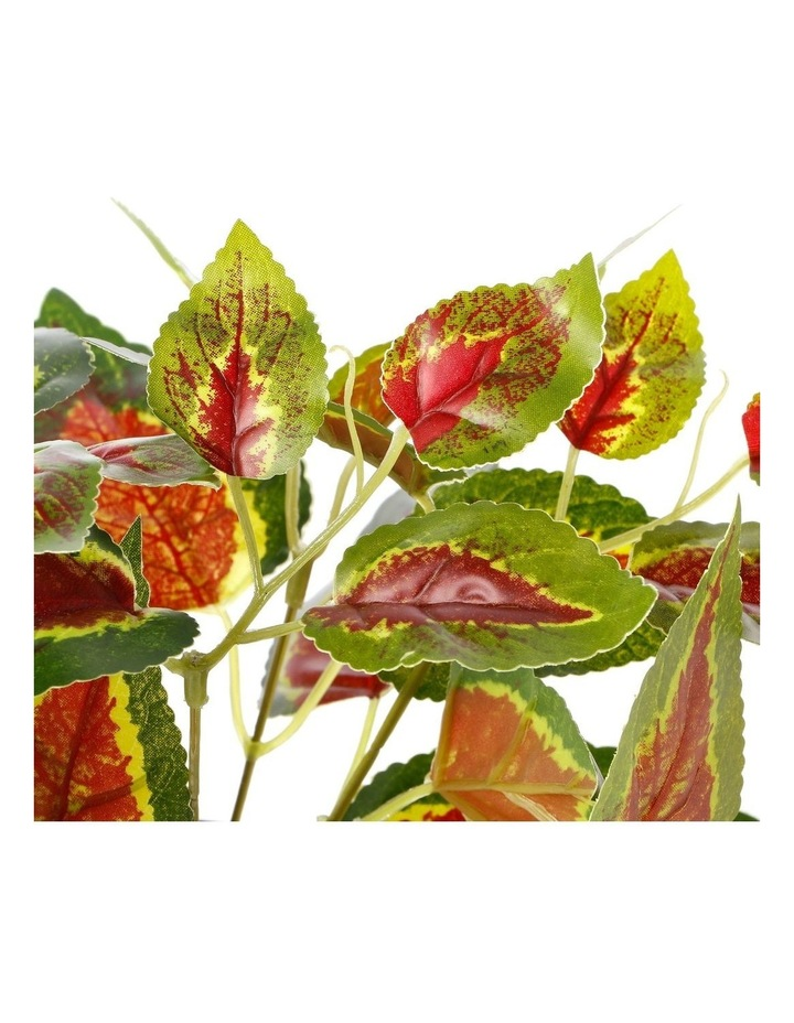 Artificial 28cm Red Leaf Potted Plant image 3