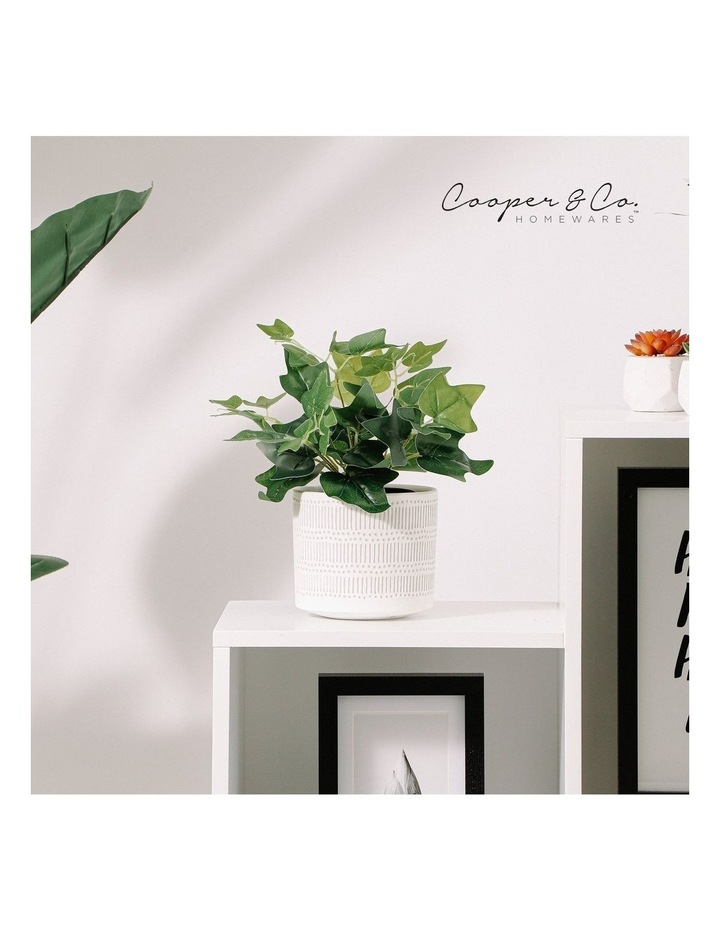 Artificial 28cm Sweet Leaf Potted Plant image 2