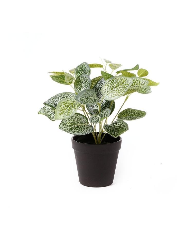 Artificial 28cm Vein Leaf Potted Plant image 1