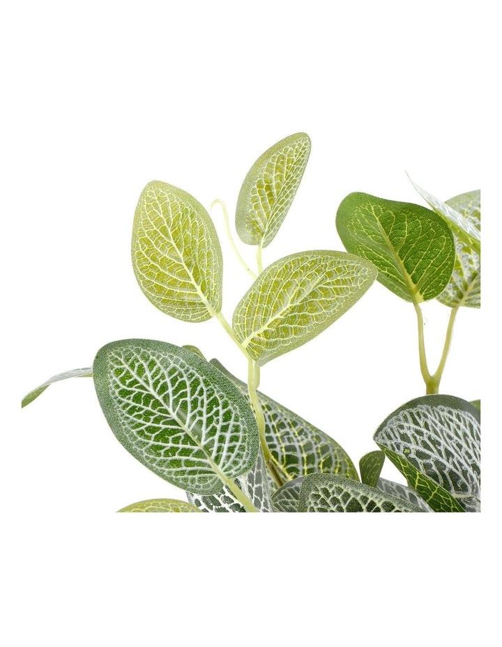 Artificial 28cm Vein Leaf Potted Plant image 3