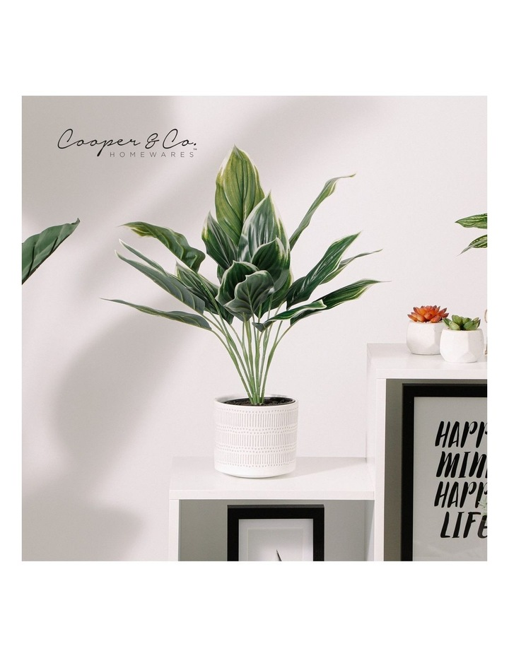 Artificial 47cm Hearty Leaf Potted Plant image 2