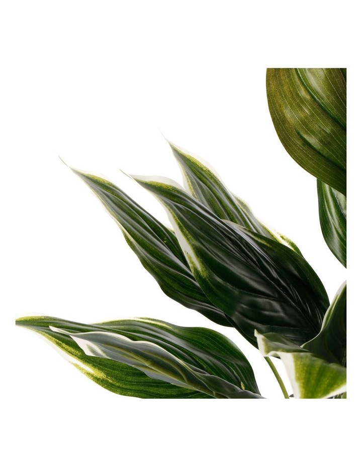 Artificial 47cm Hearty Leaf Potted Plant image 3